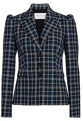 Michael Kors Women's Puff-Shoulder Virgin Wool Blazer