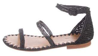 Carrie Forbes Raffia Woven Sandals