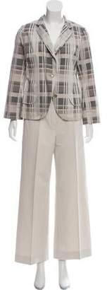 Lida Baday Plaid Two-Piece Pantsuit