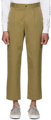 Noah NYC Khaki Single Pleat Trousers