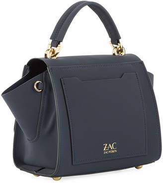 Zac Posen Eartha Suede Top-Handle Crossbody Bag