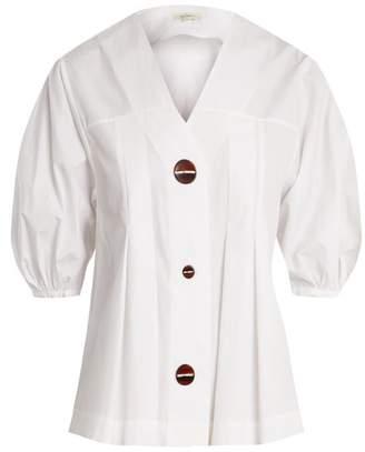 Isa Arfen Puff-sleeved cotton top