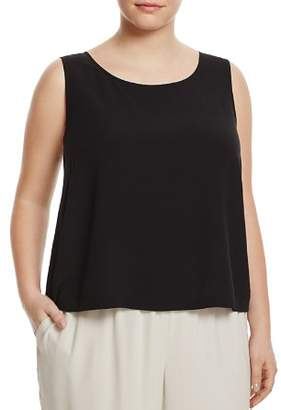 Eileen Fisher Plus Silk Cropped Shell