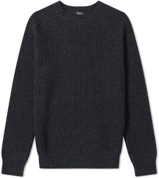A.P.C. Rib Marl Crew Knit