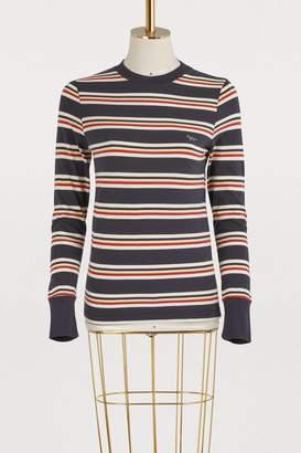MAISON KITSUNÉ Striped long sleeve T-shirt