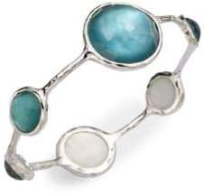 Ippolita Mother-Of-Pearl, Clear Quartz & Sterling Silver Bracelet/Denim