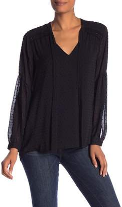 Daniel Rainn DR2 by Clip Dot Tie Neck Blouse