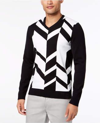 Alfani Men's Broken Chevron Sweater, Created for Macy's