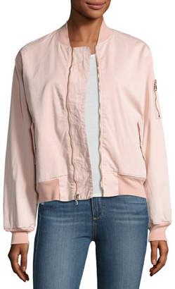 Hudson Gene Bomber Jacket, Trooper Green $295 thestylecure.com