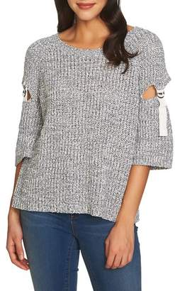 1 STATE 1.STATE Cutout D-Ring Sleeve Sweater