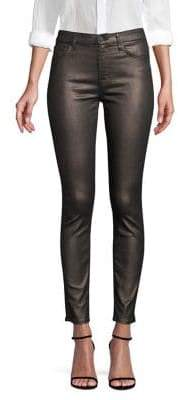 7 For All Mankind Metallic Ankle Skinny Jeans