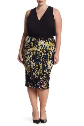 Rachel Roy Fited Jacquard Sweater Skirt (Plus Size)