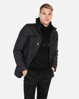 Express Recycled Wool Water-Resistant Military Pocket Jacket