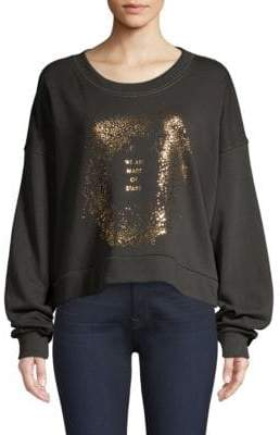 Spiritual Gangster Women's Made Of Stars Oversized Sweatshirt - Vintage Black - Size Small
