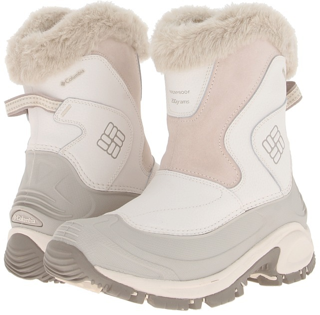 Columbia Bugaboot Slip (Winter White/Stone) - Footwear