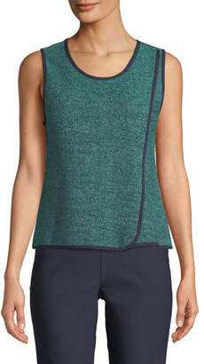 Nic+Zoe Scoop-Neck Speckled-Knit Tank, Plus Size