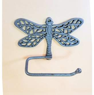 Carvers Olde Iron Cast Iron Dragonfly Toilet Paper Holder