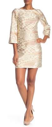 Trina Turk Naya Metallic Stitch Dress