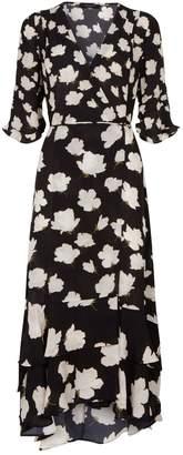 AllSaints Delana Wrap Dress