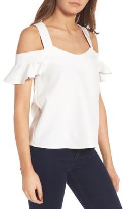 Women's Leith Cold Shoulder Top $49 thestylecure.com
