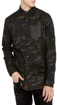 Buffalo David Bitton Sinvex Camouflage Regular-Fit Button-Down Shirt