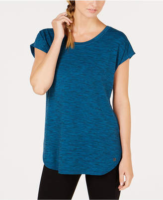 Ideology Essential Space-Dyed Lace-Up Back T-Shirt