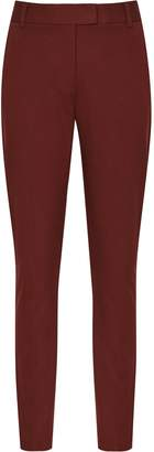 Reiss Joanne - Cropped Tailored Trousers in Roasted Red