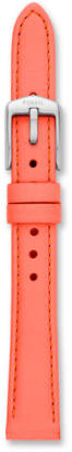Fossil 14mm Neon Coral Leather Watch Strap