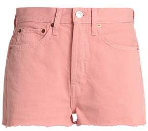 Levi's Re/Done By Frayed Denim Shorts