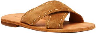 Frye Women's Avery Pickstitch Suede Sandal