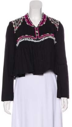 Isabel Marant Bead-Embellished Embroidered Jacket