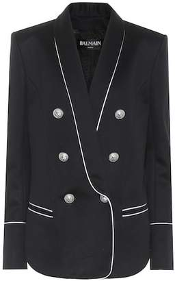 Balmain Cotton-blend jersey blazer