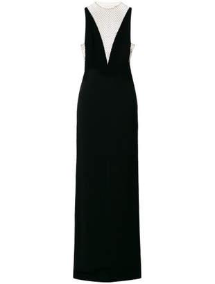 Embellished V-neck Gown - Black - Size IT42