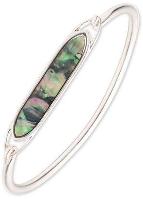 Chaps Silver Tone Bangle Bracelet
