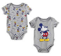 Disney Mickey Mouse Bodysuit Set for Baby - Gray