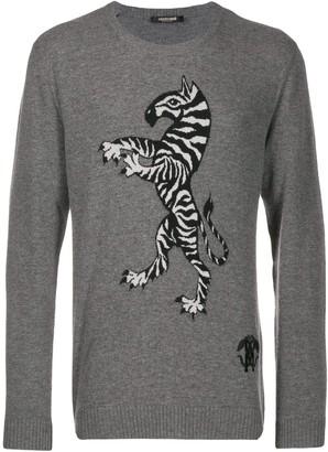 Roberto Cavalli intarsia knit jumper