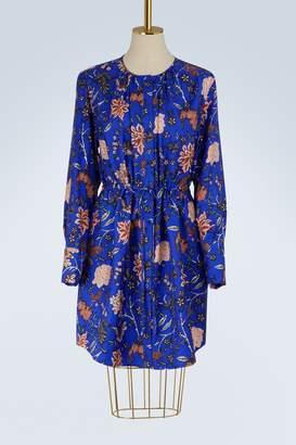 Diane von Furstenberg Cinched-waist silk dress