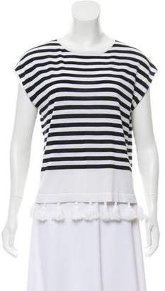 Cotton by Cashmere Striped Sleeveless Top