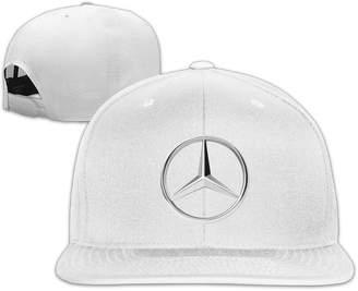 Mercedes Benz Pentry Logo Flat Bill Hats/Panel Hat