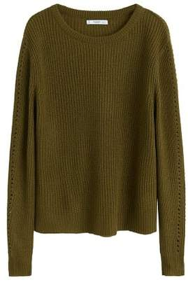 MANGO Ribbed knit sweater