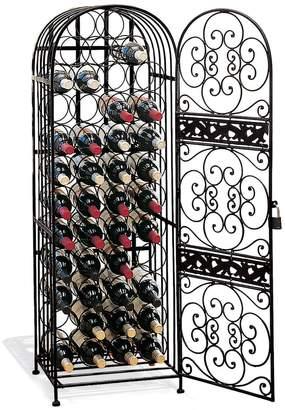 Wine Enthusiast 45-Bottle Wrought Iron Wine Rack