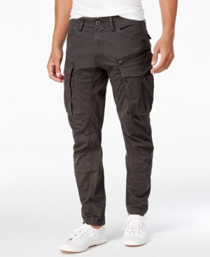 G Star Raw Men's Rovic 3D Straight Tapered Fit Cargo Pants