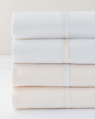 Bovi Fine Linens Estate King Sheet Set, Ivory/White