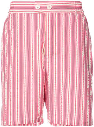 Henrik Vibskov Spyjama striped shorts