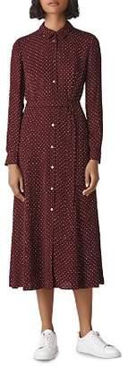 Whistles Margot Dot Shirt Dress