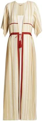 ZEUS + DIONE Chora striped silk-blend dress