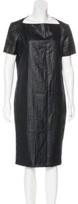 Calvin Klein Collection Bateau Neck Midi Dress