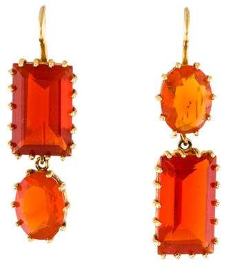 Renee Lewis 18K Fire Opal Drop Earrings