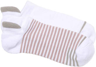 Lemon Striped No Show Socks - 2 Pack - Women's