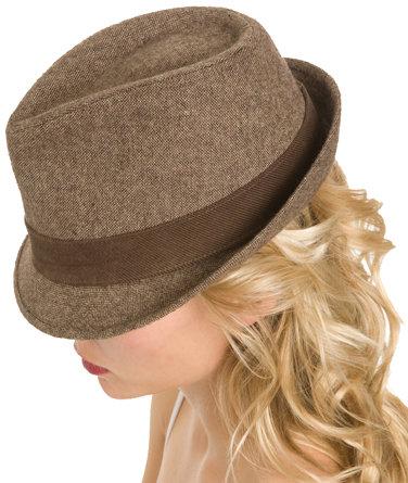 Brown Tweed Fedora